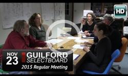 Guilford Selectboard Mtg 11/23/15