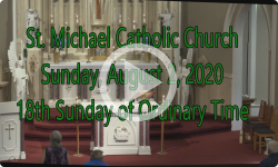 Mass from Sunday, August 2, 2020