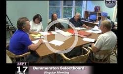 Dummerston SB Mtg 9/17/14
