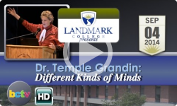 Landmark College presents Dr. Temple Grandin, 'Different Kinds of Minds' - 9/4/14