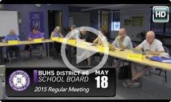 BUHS School Board Mtg 5/18/15