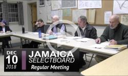 Jamaica Selectboard Mtg 12/10/18