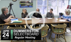 Dummerston Selectboard Mtg 4/24/19