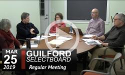 Guilford Selectboard Mtg 3/25/19