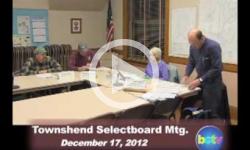 Townshend Selectboard Mtg. 12/17/12