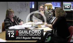 Guilford Selectboard Mtg 3/12/15