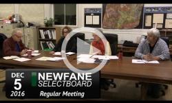 Newfane Selectboard Mtg 12/5/16