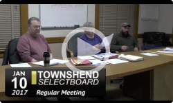 Townshend Selectboard Mtg 1/10/17