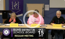 BUHS School Board Mtg 10/15/18