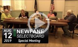 Newfane Special Selectboard Mtg 8/12/19