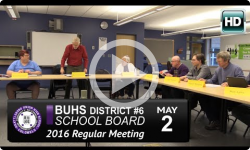 BUHS School Board Mtg 5/2/16