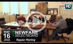 Newfane Selectboard Mtg 5/16/16