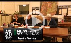 Newfane Selectboard Mtg 2/20/17
