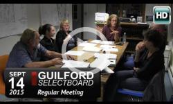 Guilford Selectboard Mtg 9/14/15