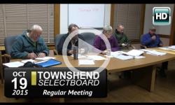 Townshend Selectboard: 10/19/15