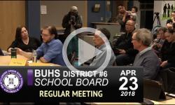 BUHS School Board Meeting 4/23/18