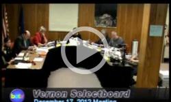 Vernon Selectboard Mtg 12/17/12