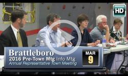 Brattleboro Pre-Rep Town Mtg Info Session 3/9/16