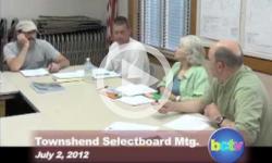 Townshend Selectboard Mtg. 7/2/12