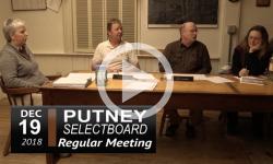Putney Selectboard Mtg 12/19/18