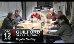Guilford Selectboard Mtg 12/12/16