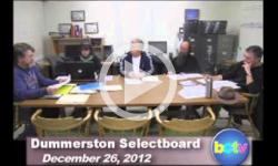 Dummerston SB Mtg. 12/26/12