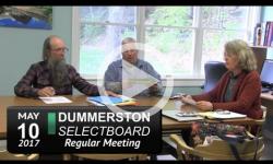 Dummerston Selectboard Mtg 5/10/17