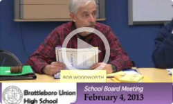 Brattleboro Union High School Bd. Mtg. 2/4/13