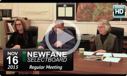 Newfane Selectboard Mtg 11/16/15