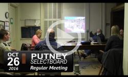 Putney Selectboard Mtg 10/26/16