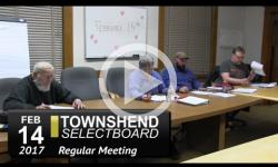 Townshend Selectboard Mtg 2/14/17