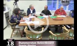 Dummerston SB Mtg. 9/18/13