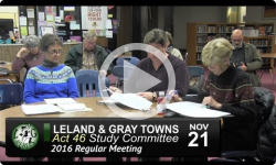 Leland and Gray Towns Act 46 Study Committee Mtg 11/21/16