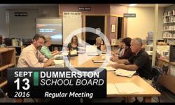 Dummerston School Board Mtg 9/13/16