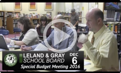 Leland and Gray Special Budget Mtg 12/6/16