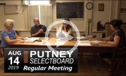 Putney Selectboard 8/14/19