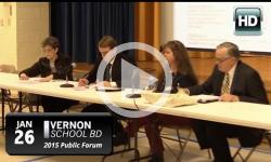 Vernon Schl Bd: 1/26/15 Public Forum