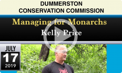 Dummerston Conservation Commission: Managing for Monarchs 7/17/19
