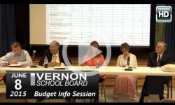 Vernon Schl Bd: 6/8/15 Special Budget Mtg