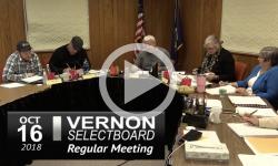 Vernon Selectboard Mtg 10/16/18