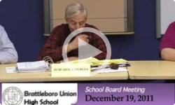 Brattleboro Union High School Bd. Mtg. 12/19/11