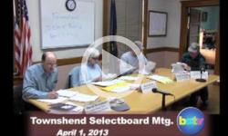 Townshend Selectboard Mtg 4/1/13