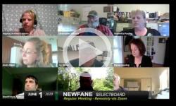 Newfane Selectboard: Newfane SB Mtg 6/1/20