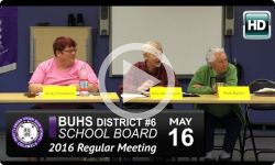 BUHS School Board Mtg 5/16/16