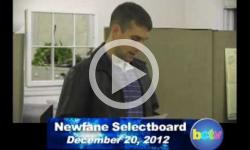 Newfane Selectboard Mtg. 12/20/12