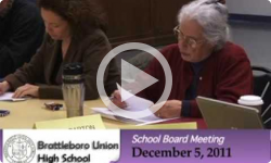 Brattleboro Union High School Board Mtg. 12/5/11