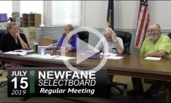 Newfane Selectboard Mtg 7/15/19