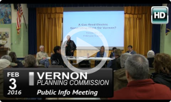 Vernon Planning Commission - Forum on Natural Gas Plant 2/3/16