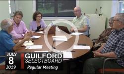 Guilford Selectboard Mtg 7/8/19