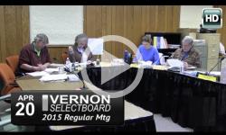 Vernon Selectboard Mtg 4/20/15